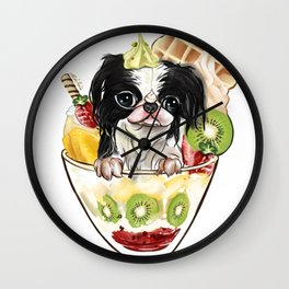 Japanese Chin sundae Wall Clock