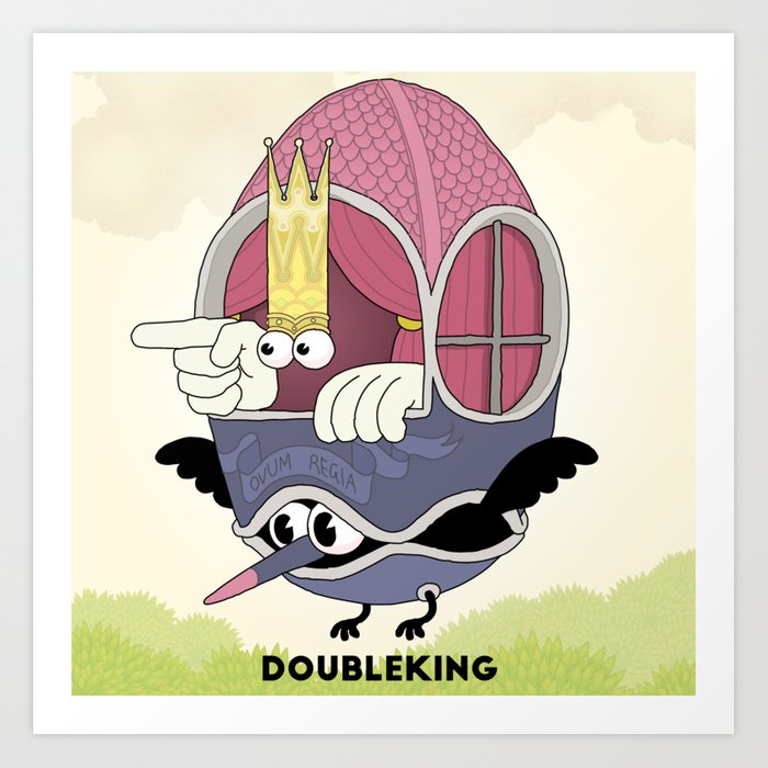 DOUBLE KING: Ovum Regia Kunstdrucke