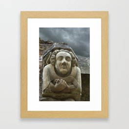 Unseeing Face Framed Art Print