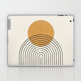 Gold Sun rainbow mountain Laptop & iPad Skin