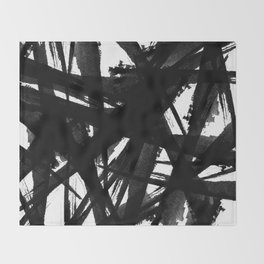Abstract Strokes Throw Blanket