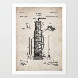 Whisky Patent - Whisky Still Art - Antique Art Print