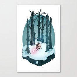 Rey vs. Kylo Ren Isometric Poster Canvas Print