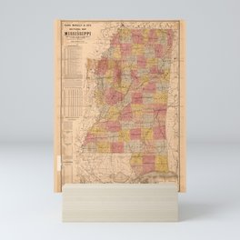 Rand, McNally & Co.'s sectional map of Mississippi (1892) Mini Art Print