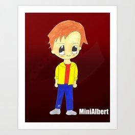 MiniAlbert Art Print