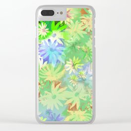 A bed of flowers. Clear iPhone Case