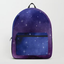 Stars in Space Watercolor Pattern Backpack