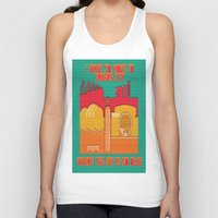 kansas city Tank Tops featuring Paper Kansas City by BEARableDesigns