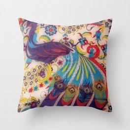 Vintage Silk Throw Pillow