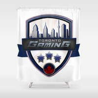 gaming Shower Curtains featuring Toronto Gaming by rramrattan