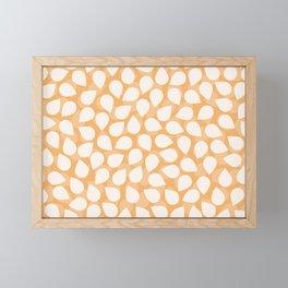Sakura Petal Snow Light Orange Spring Pattern Framed Mini Art Print