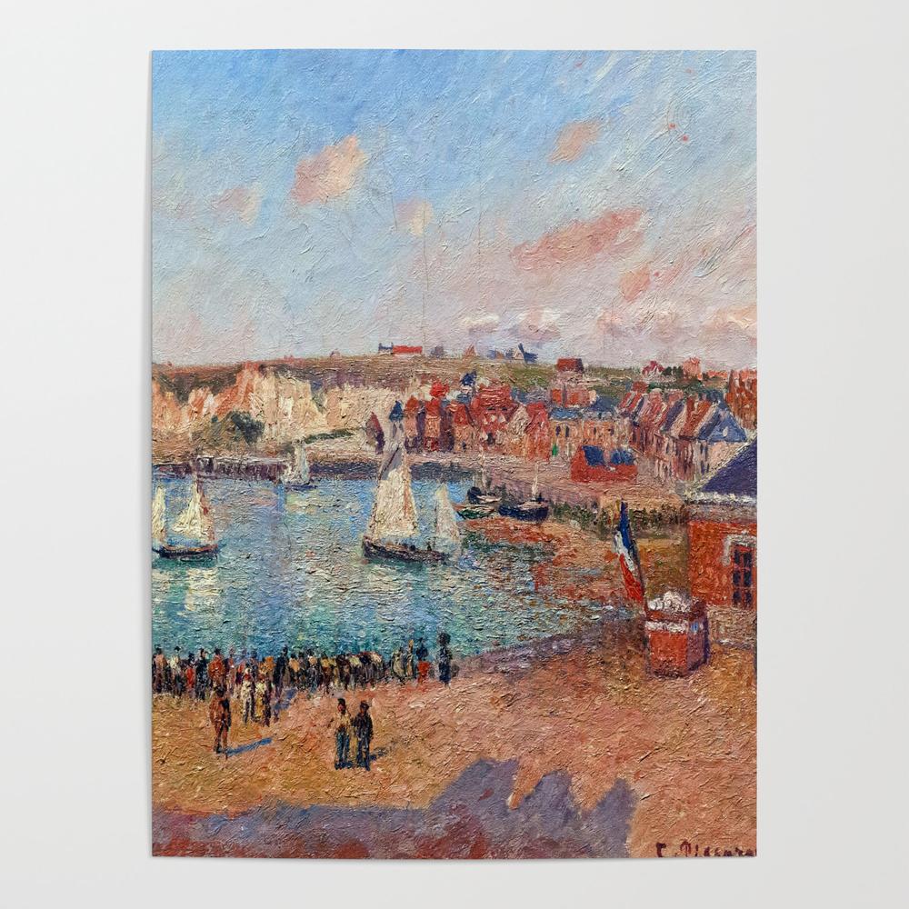 Camille Pissarro Dieppe Harbor Poster by jjbzz