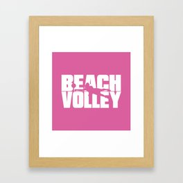 Beach volley Framed Art Print
