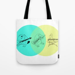 Keytar Platypus Venn Diagram Tote Bag