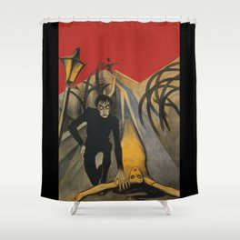 The Cabinet of Dr. Caligari,1920 German Silent Horror Film Shower Curtain