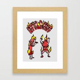 jeje marihuana dude Framed Art Print