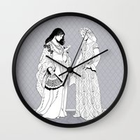 roman Wall Clocks featuring Roman Sisters by Tom Tierney Studios