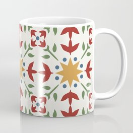 Starflower Quilt Pattern Coffee Mug