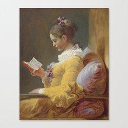 Jean Honoré Fragonard Young Girl Reading c. 1769 Painting Canvas Print