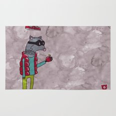 006_raccoon Rug