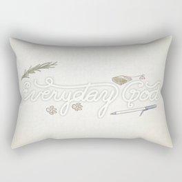 Everyday God Rectangular Pillow