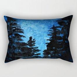 Blue Sky - Evergreen Trees Rectangular Pillow