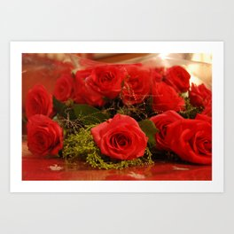 Bunch of Red roses Art Print