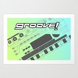 Groove! Art Print