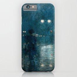 Fifth Avenue Nocturne - Frederick Childe Hassam iPhone Case
