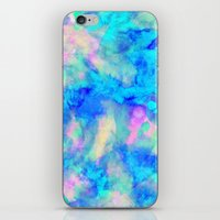 mars iPhone & iPod Skins featuring Electrify Ice Blue by Amy Sia
