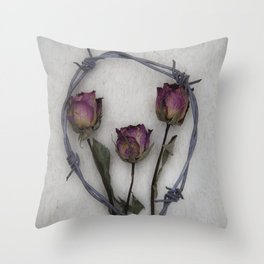 Three dried Roses II Throw Pillow