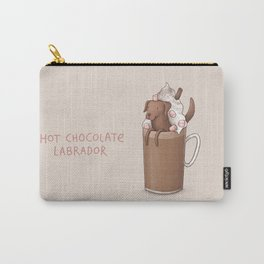 Hot Chocolate Labrador Carry-All Pouch