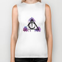 deathly hallows Biker Tanks featuring The Deathly Hallows by AliceInWonderbookland