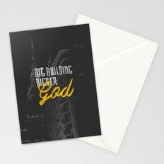 Big Building Bigger GOD Stationery Cards