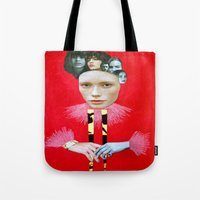 baroque Tote Bags featuring Baroque by Mimi Rico