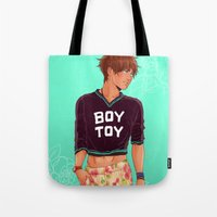 snk Tote Bags featuring SNK: Eren Jaeger Crop Top by Yuki119