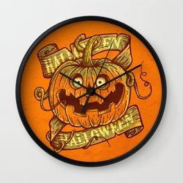 Halloween orange Wall Clock