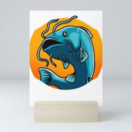Fisherman Funny Catfish Fishing Saying Angling Gift Mini Art Print