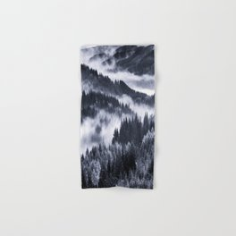 Misty Forest Mountains Hand & Bath Towel