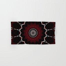 Deep Ruby Red Mandala Design Hand & Bath Towel