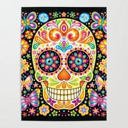 Día de Muertos Sugar Skull (Fiesta) Poster