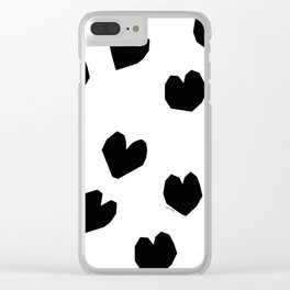 Love Yourself no.2 - black and white love art illustration Clear iPhone Case