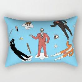 Cut It Out: Ron Burgundy Rectangular Pillow
