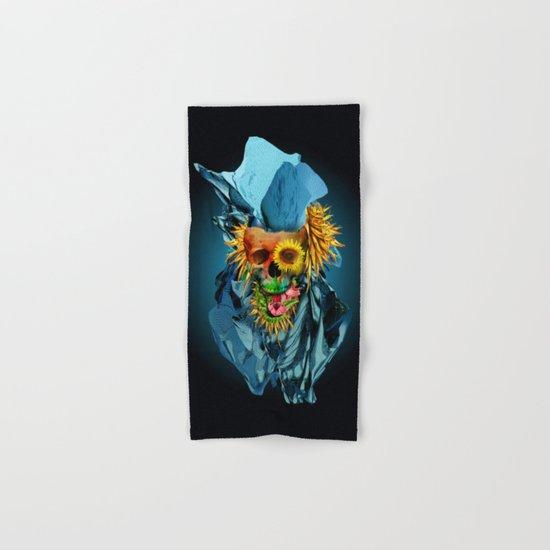 Floral Skull Vivid IV Hand & Bath Towel