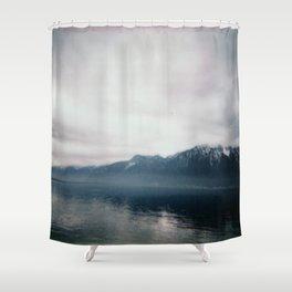 Brume sur Montreux Shower Curtain