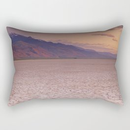 II - Cracked earth in remote Alvord Desert, Oregon, USA at sunrise Rectangular Pillow