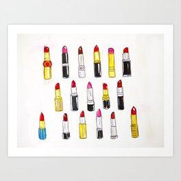 Lipstick Jungle Art Print