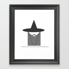 Gandalf Minimalist Framed Art Print