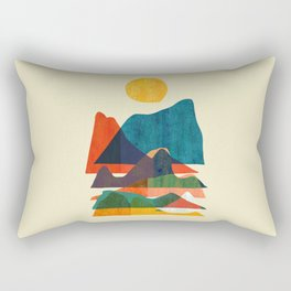 Everything is beautiful under the sun Rectangular Pillow