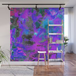 Color Cracking Wall Mural